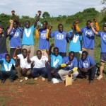 Peak Active Sports training with kids in Uganda