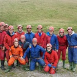 Peak Active Sports team dressed in caving gear