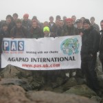 PAS & Friends on Scafell Summit